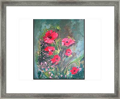Poppies Framed Print by Angela Puglisi