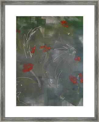 Poppies At Dawn Framed Print by Caprice Scott