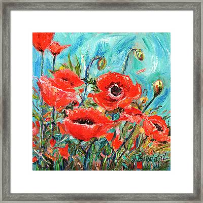 Poppies Delight Framed Print by Jennifer Beaudet