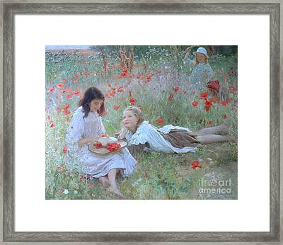 Poppies Framed Print by Frederick Stead