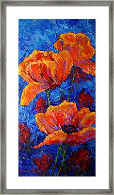 Poppies II Framed Print by Marion Rose