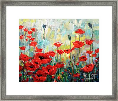 Poppies In Bloom Framed Print by Jennifer Beaudet