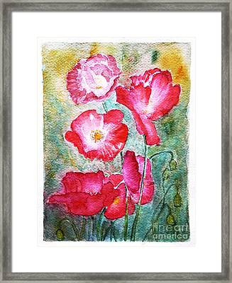 Poppies Framed Print by Jasna Dragun
