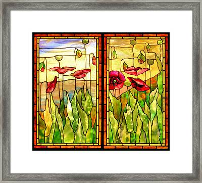 Poppies Framed Print by Kristin Elmquist