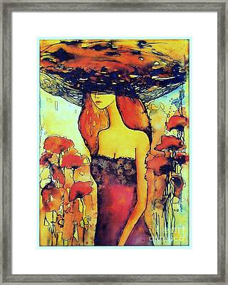 Poppies Lady Framed Print