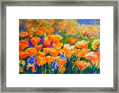 Poppies Like Hansen Framed Print by Therese Fowler-Bailey