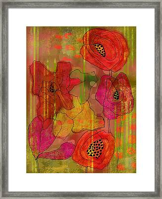 Poppies Framed Print by Lisa Noneman