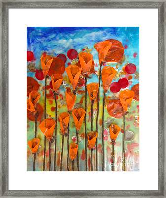 Poppies Make Me Happy Framed Print