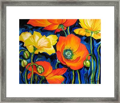 Poppies Framed Print by Marcia Baldwin