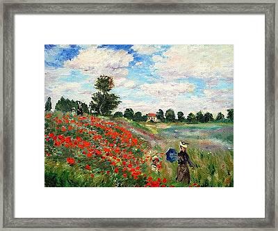 Poppies Near Argenteuil Framed Print by Peter Kupcik