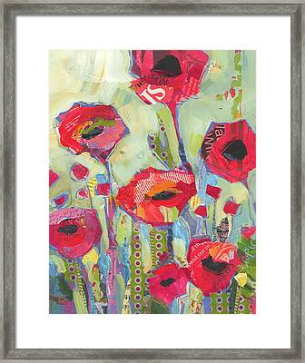 Poppies No 5 Framed Print by Shelli Walters