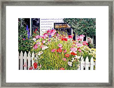 Poppies On Niagara Street Framed Print by David Lloyd Glover
