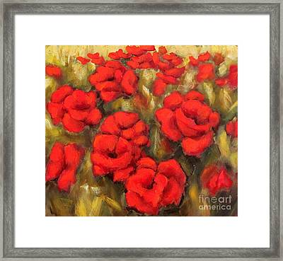 Poppies Passion Fragment Framed Print