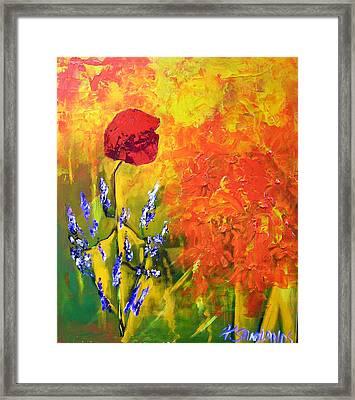 Poppies Framed Print by Paul Sandilands