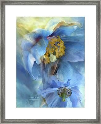 Poppies So Blue Framed Print by Carol Cavalaris