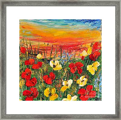 Poppies Framed Print by Teresa Wegrzyn