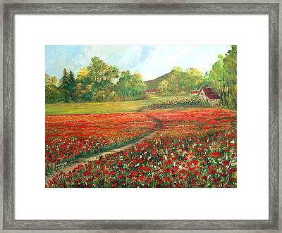 Poppies Time Framed Print