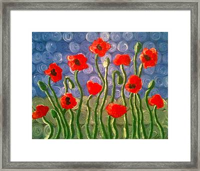 Poppies Framed Print by Tina Hollis