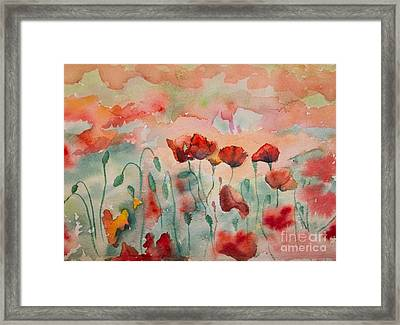 Poppies Framed Print by Tracey Hunnewell