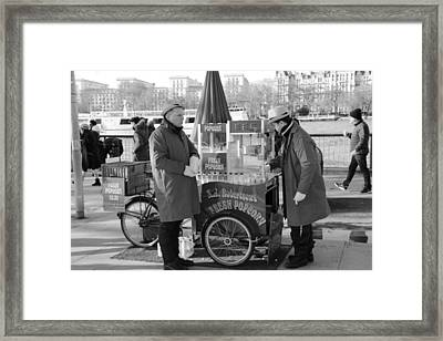 Popping In And Out Framed Print