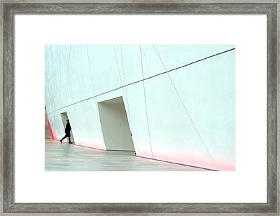 Popping In Here For A While Framed Print by Jez C Self