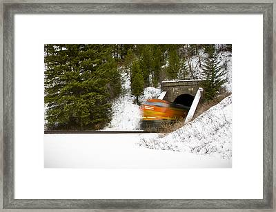 Popping Out Of Tunnel 1012 Framed Print