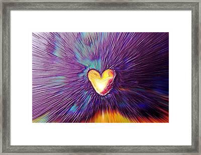 Popping Passion Framed Print by Linda Sannuti