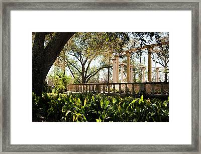 Popp's Fountain Framed Print