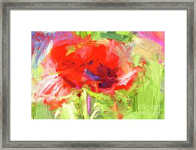 Framed Print featuring the photograph Poppy Abstract Photo Art by Sharon Talson