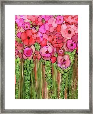 Poppy Bloomies 1 - Pink Framed Print