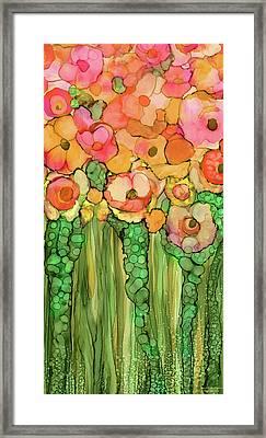 Poppy Bloomies 2 - Orange Framed Print
