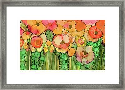 Poppy Bloomies 3 - Orange Framed Print