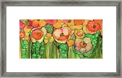 Poppy Bloomies 4 - Orange Framed Print