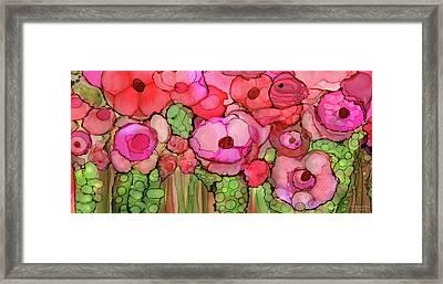 Poppy Bloomies 4 - Pink Framed Print