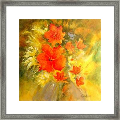 Poppy Bouquet  Framed Print by Madeleine Holzberg