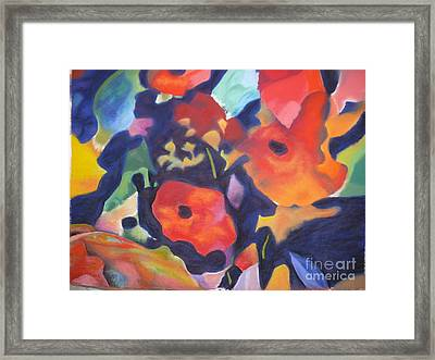 Framed Print featuring the pastel Poppy Bouquet by Terri Thompson