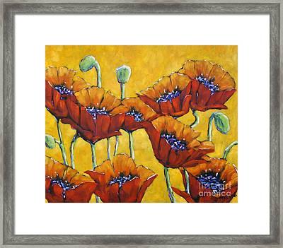 Poppy Craze By Prankearts Framed Print by Richard T Pranke