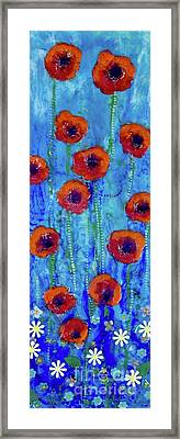 Poppy Dance Framed Print