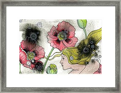 Framed Print featuring the painting Poppy Dream by Sheri Howe
