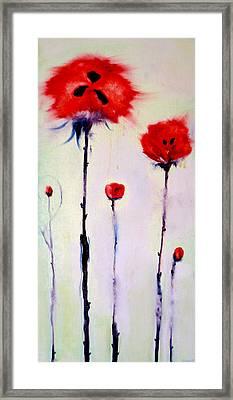 Poppy Family Framed Print by Jenna Fournier