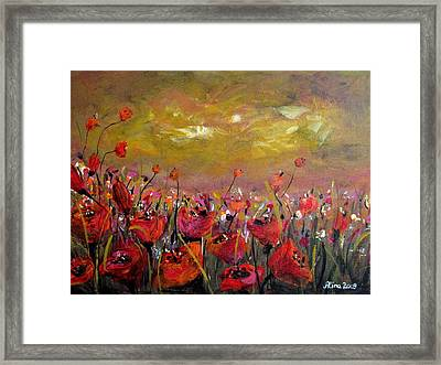 Poppy Field Framed Print by Alina Vidulescu