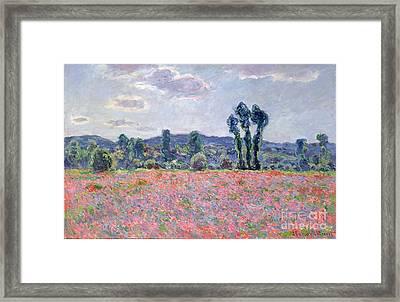 Poppy Field Framed Print by Claude Monet