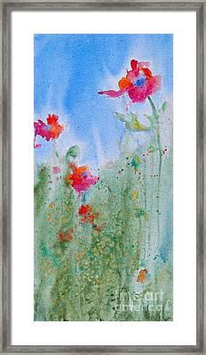 Poppy Field Flowers Framed Print