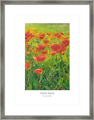 Framed Print featuring the digital art Poppy Field by Julian Perry