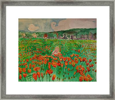 Poppy Field Framed Print by Shellie Gustafson