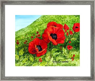 Poppy Field Framed Print by Tanja Ware