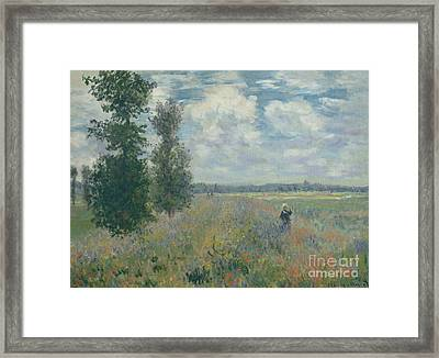 Poppy Fields Near Argenteuil, 1875 Framed Print by Claude Monet