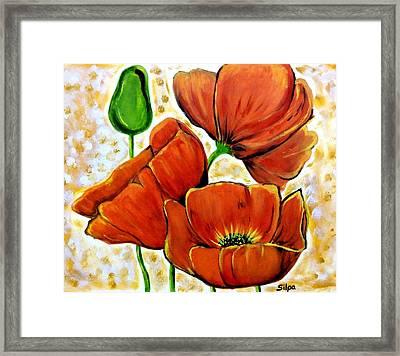 Poppy Flowers Framed Print by Silpa Saseendran