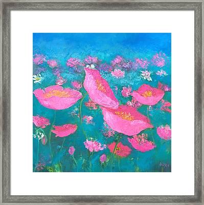 Poppy Garden By Jan Matson Framed Print