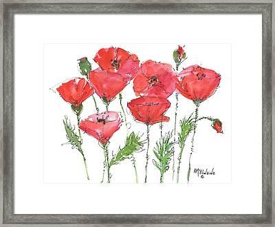 Poppy Garden Framed Print